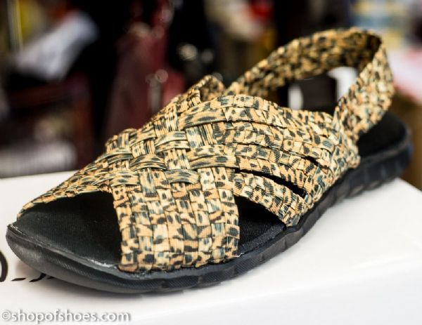 Adesso all elastic upper light summer leopard print sandal